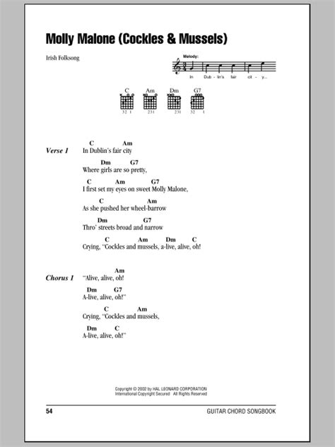 Molly Malone (Cockles & Mussels) | Sheet Music Direct