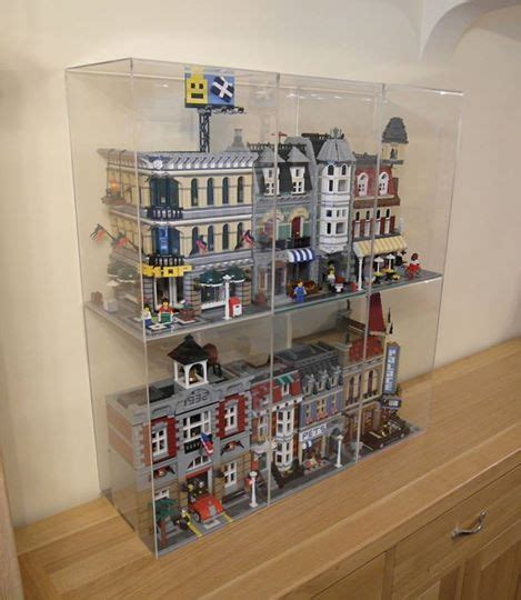 Nice clear display boxes for my Lego 0182 Cafe Corner