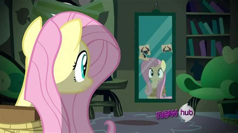 fluttershy takes a look in the mirror - YouTube