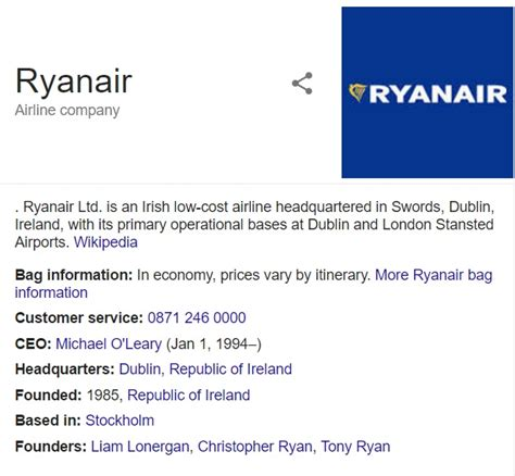 Ryanair: Customer Service Contact Number, Help: 0843 837
