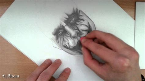Pencil Drawing-The Joker(Heath Ledger) - YouTube