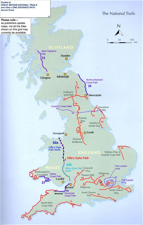 Great Britain: National Trails and Other Long Distance
