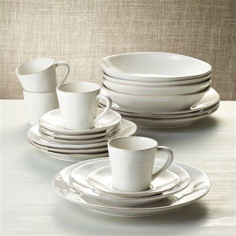 Marin White 20-Piece Dinnerware Set + Reviews | Crate and